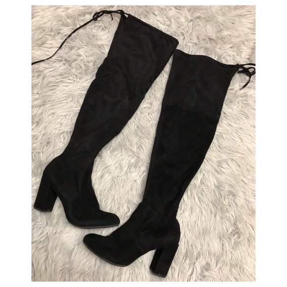 e17100dadc0 kohls Shoes - Suede Over the Knee Block Heel Boots EUC Kohl s